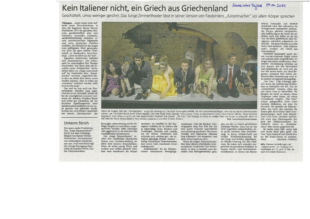 Schwäbisches Tagblatt 29.04.2014